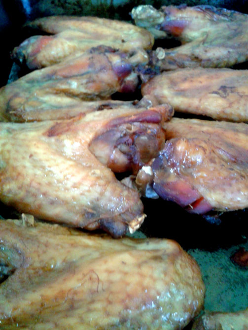 Its hard to make chicken wings look appealing i discovered - but trust me they are good!