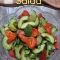 Seasonal Cucumber, Strawberry & Mint Salad (aka Wimbledon Salad)