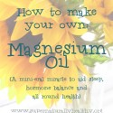 How to Make Magnesium Oil Spray