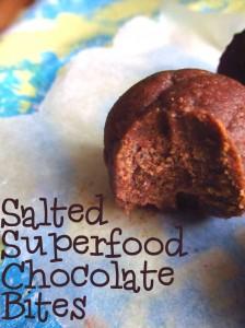 Salted Superfood Chocolate Bites (aka Chocolate Salty Balls!)