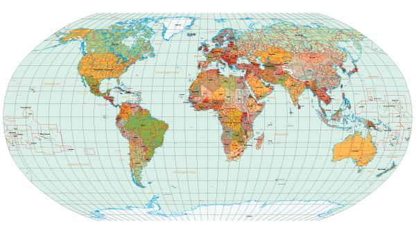 世界国家地图高清
