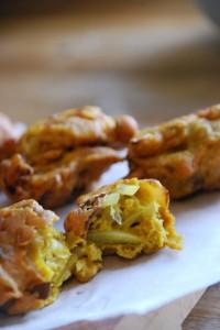 Homemade Onion & Mushroom Bhaji's