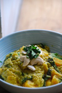 Oven Baked Butternut, Lentil & Chard Curry